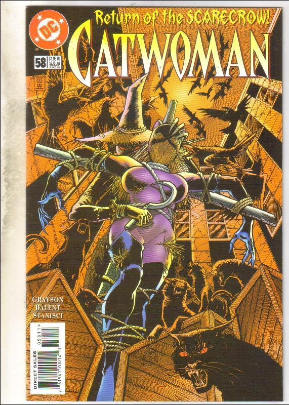 Catwoman #58 comic book near mint 9.4