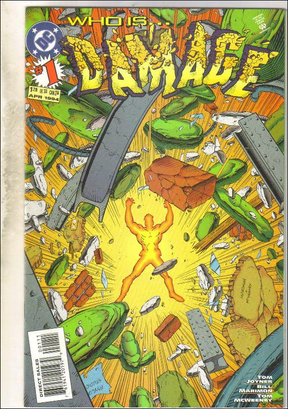 Damage #1 comic book near mint 9.4