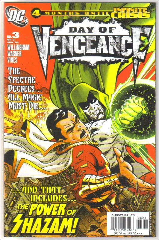 Day of Vengeance #3 comic book mint 9.8