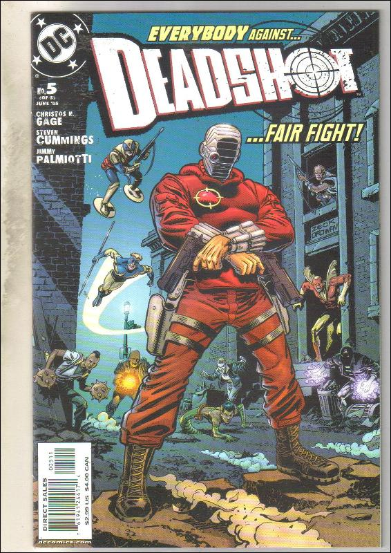Deadshot #5 comic book near mint 9.4