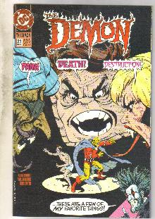Demon 1990 series #21 comic book near mint 9.4