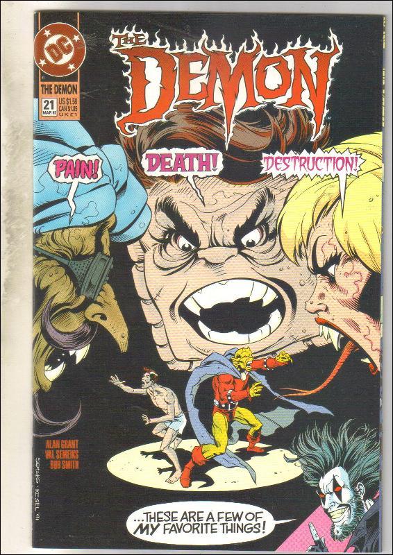 Demon 1990 series #21 comic book near mint 9.4