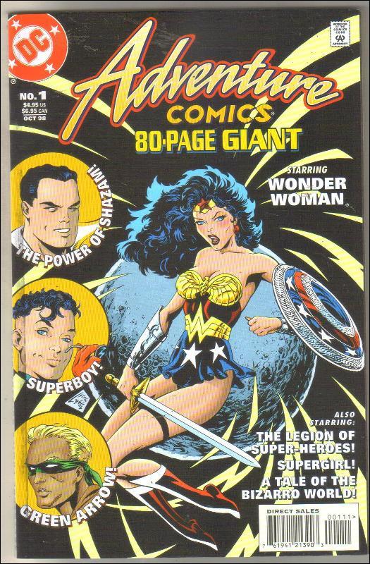 80 page giant Adventure Comics #1 comic book mint 9.8