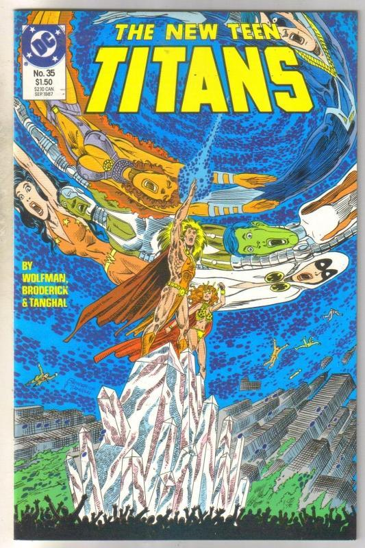 New Titans #35 comic book  mint 9.8