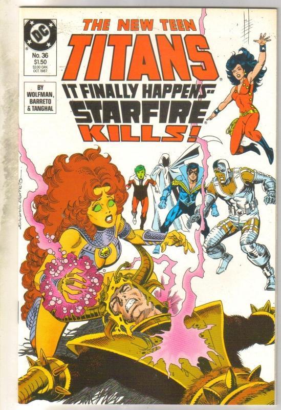 New Titans #36 comic book  mint 9.8
