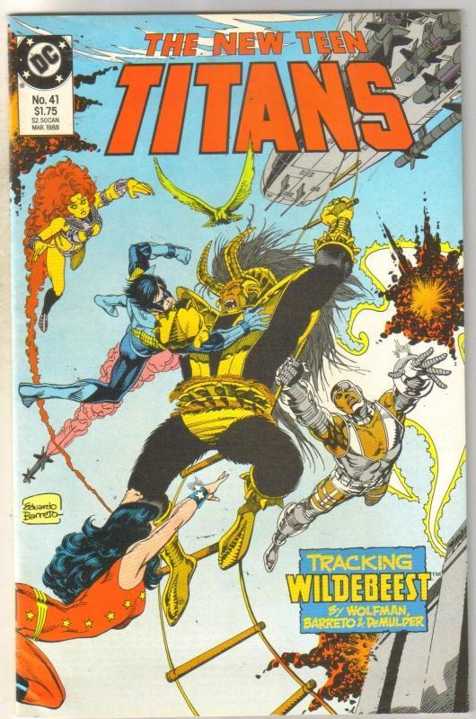 New Titans #41 comic book  mint 9.8