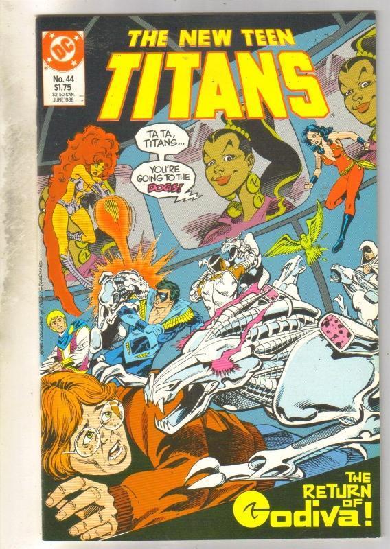 New Titans #44 comic book  mint 9.8