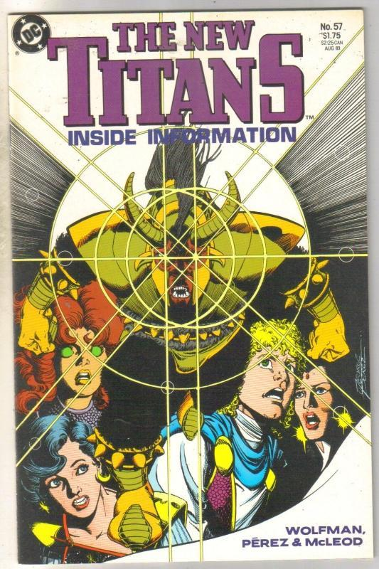New Titans #57 comic book mint 9.8