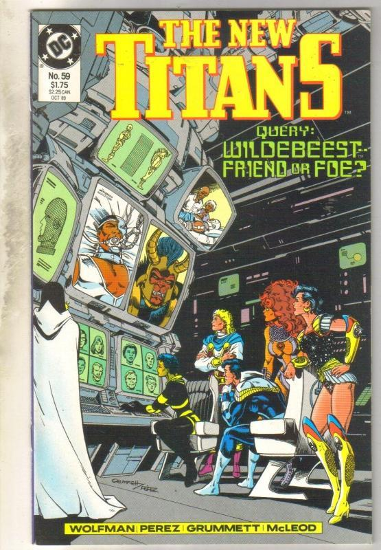 New Titans #59 comic book mint 9.8