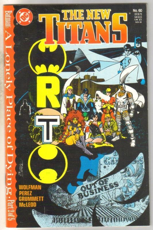 New Titans #60 comic book mint 9.8