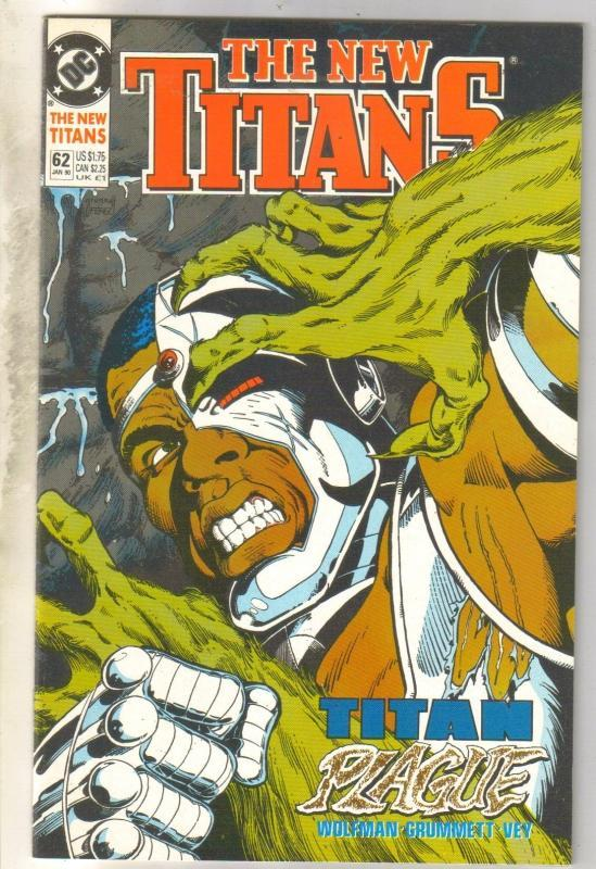 The New Titans #62 comic book near mint 9.4