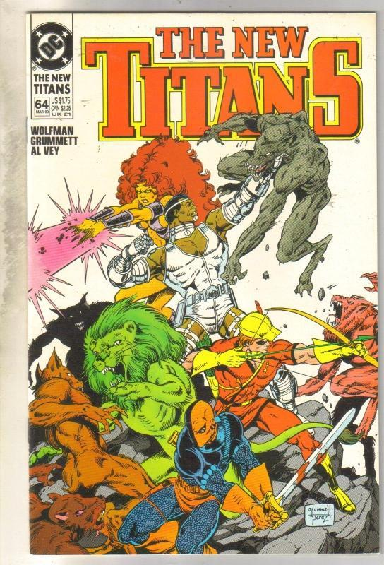 The New Titans #64 comic book near mint 9.4