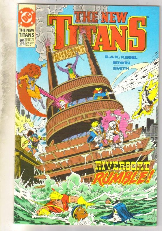 The New Titans #69 comic book mint 9.8