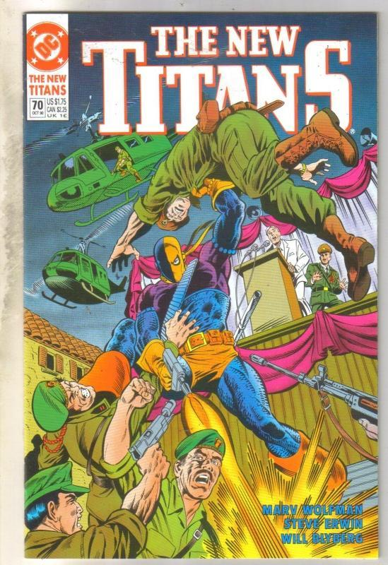 The New Titans #70 comic book near mint 9.4