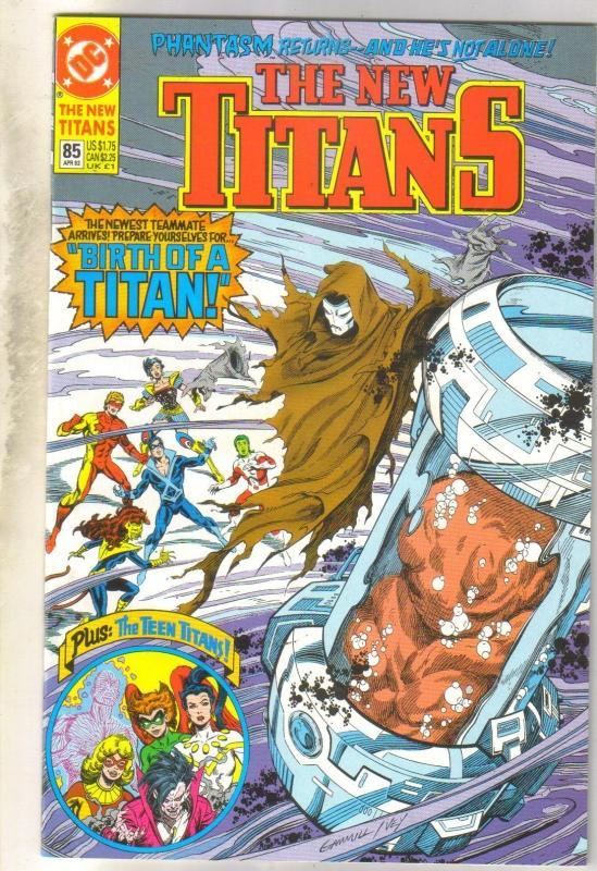 The New Titans #85 comic book mint 9.8