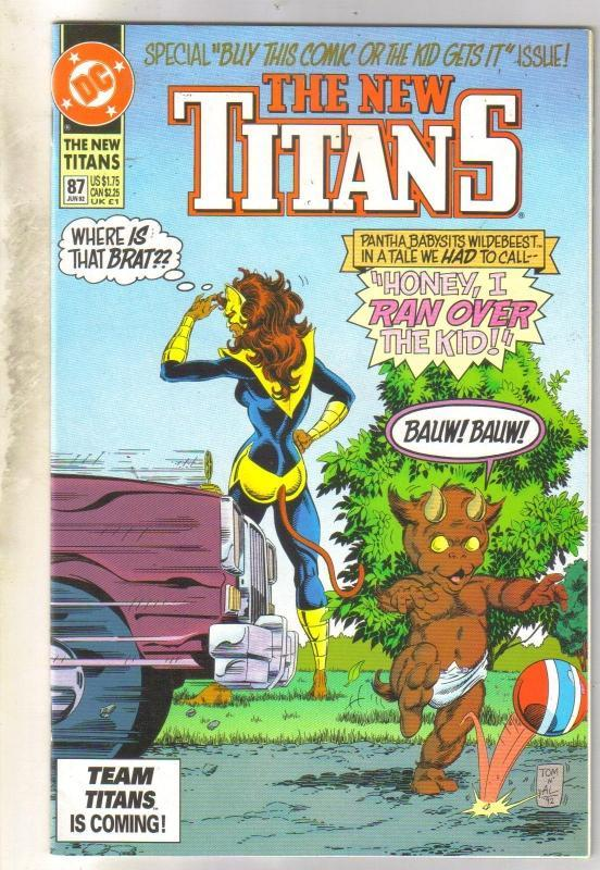 The New Titans #87 comic book mint 9.8