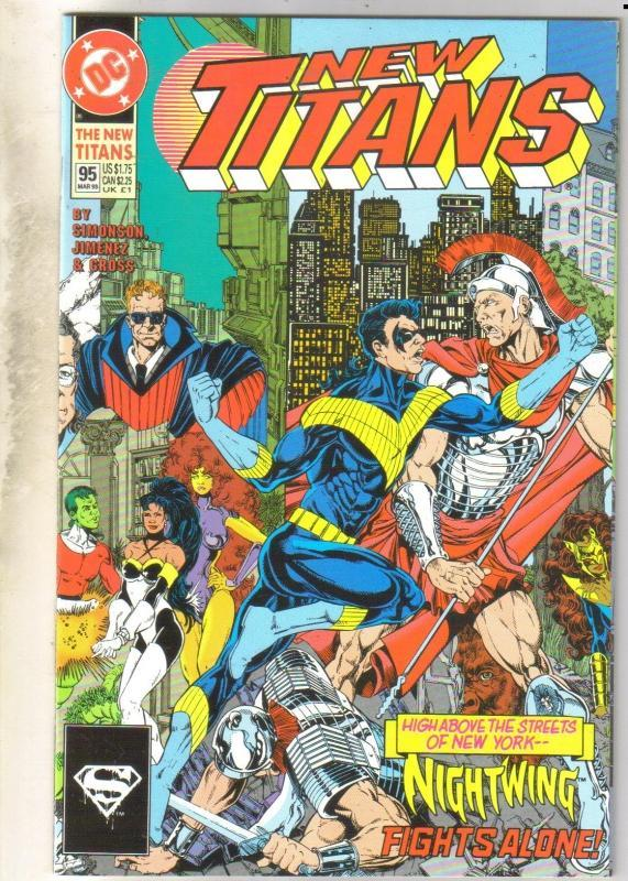 The New Titans #95 comic book near mint 9.4