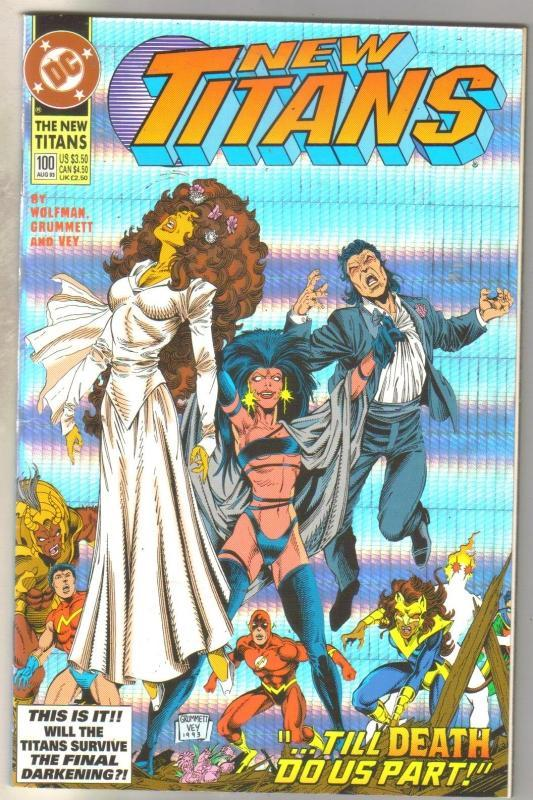 The New Titans #100 comic book mint 9.8
