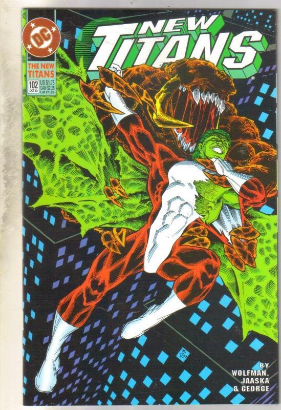 The New Titans #102 comic book mint 9.8