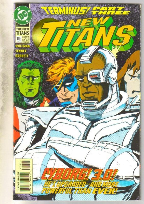 The New Titans #106 comic book near mint 9.4