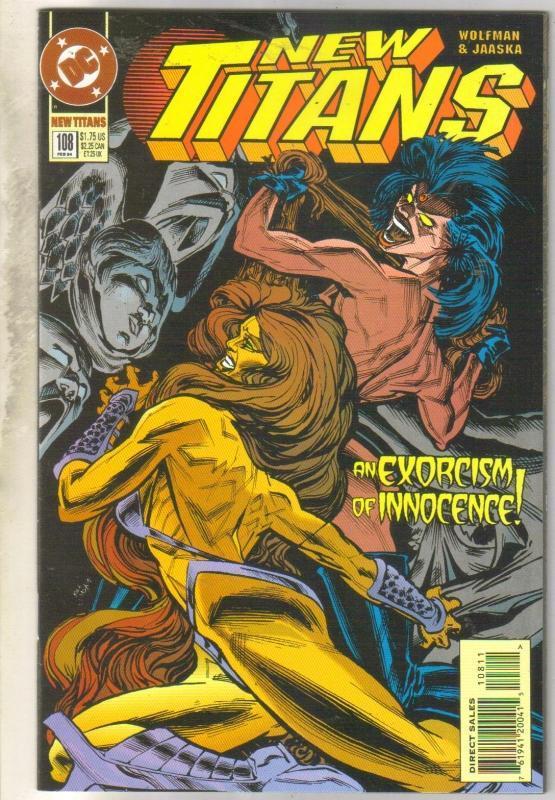 The New Titans #108 comic book near mint 9.4