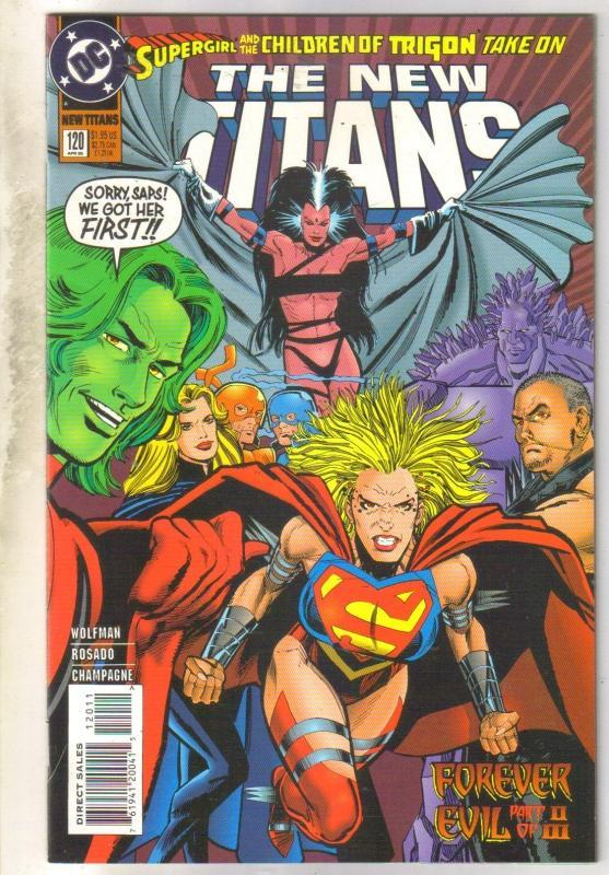 The New Titans #120 comic book near mint 9.4
