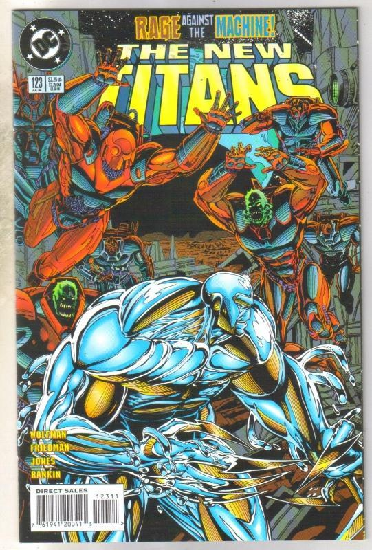 The New Titans #123 comic book near mint 9.4