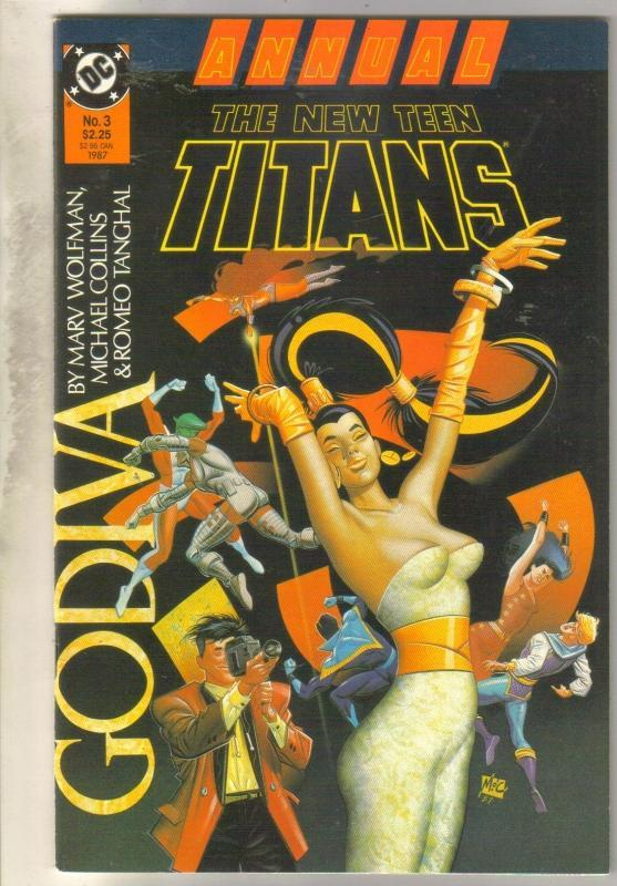 The New Teen Titans Annual #3 comic book  mint 9.8