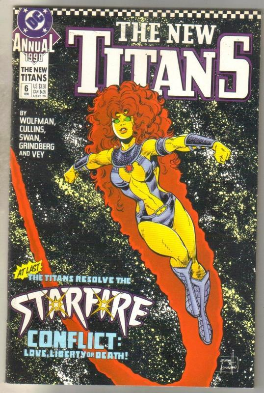 The New Titans Annual #6 comic book  near mint 9.4