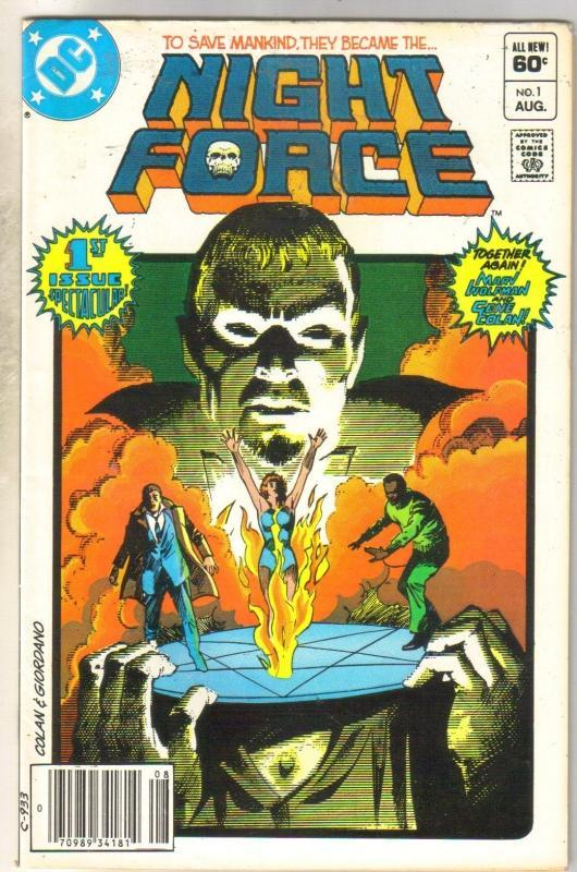 Night Force #1 comic book fine 6.0