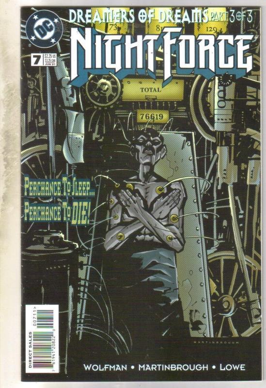 Night Force #7 comic book mint 9.8