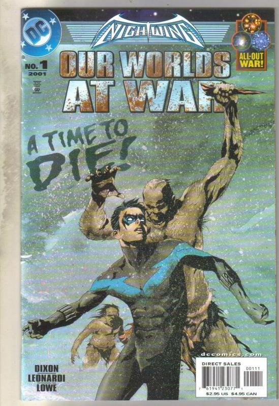 Nightwing Our Worlds at War #1 comic book mint 9.8
