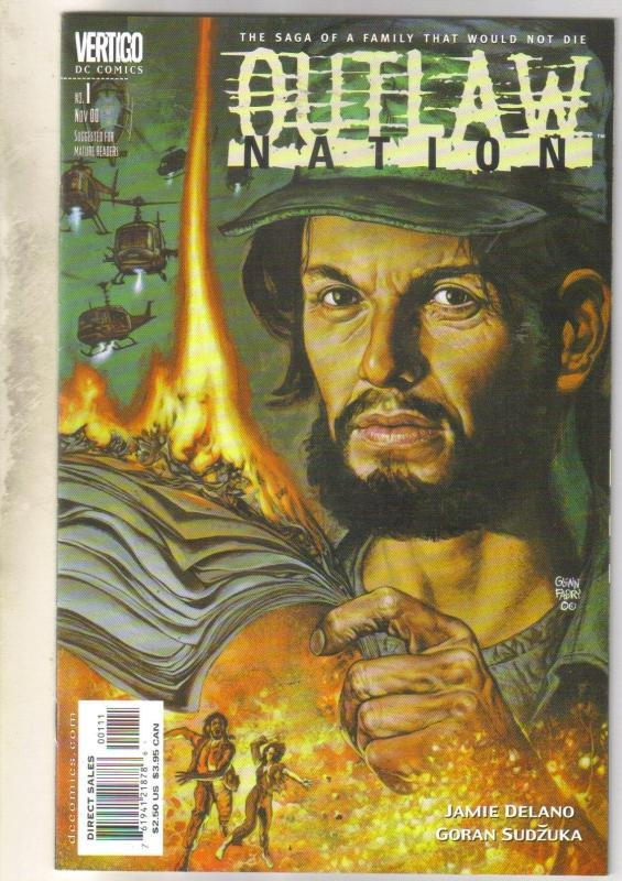 Outlaw Nation #1 Vertigo comic book near mint 9.4