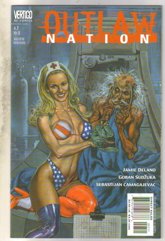 Outlaw Nation #7 Vertigo comic book near mint 9.4