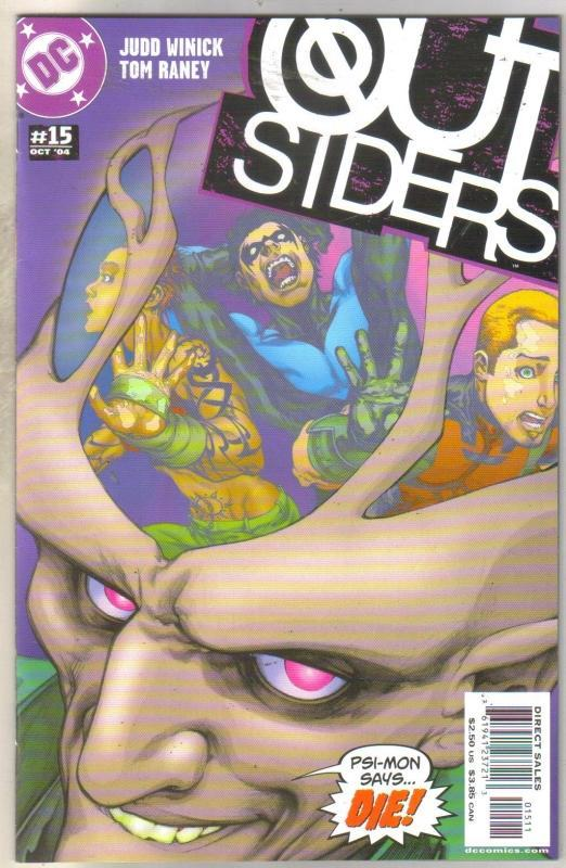Outsiders #15 comic book near mint 9.4