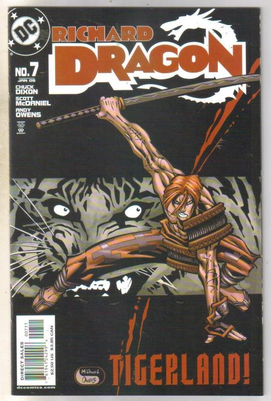 Richard Dragon #7 comic book near mint 9.4