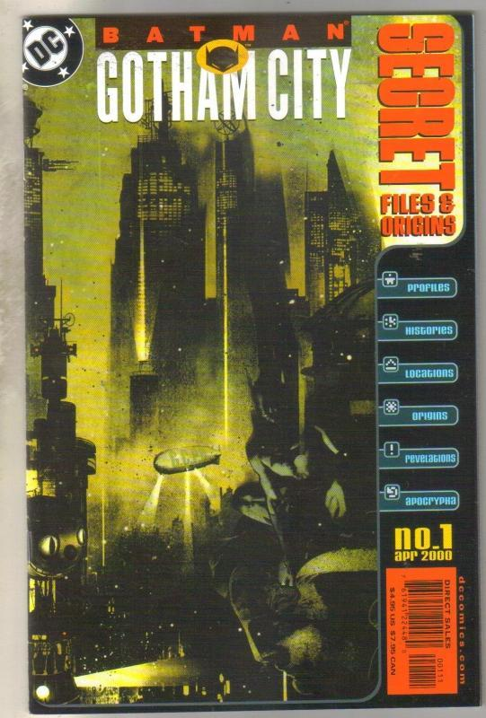 Secret Files and Origins Batman Gotham City #1 comic book near mint 9.4