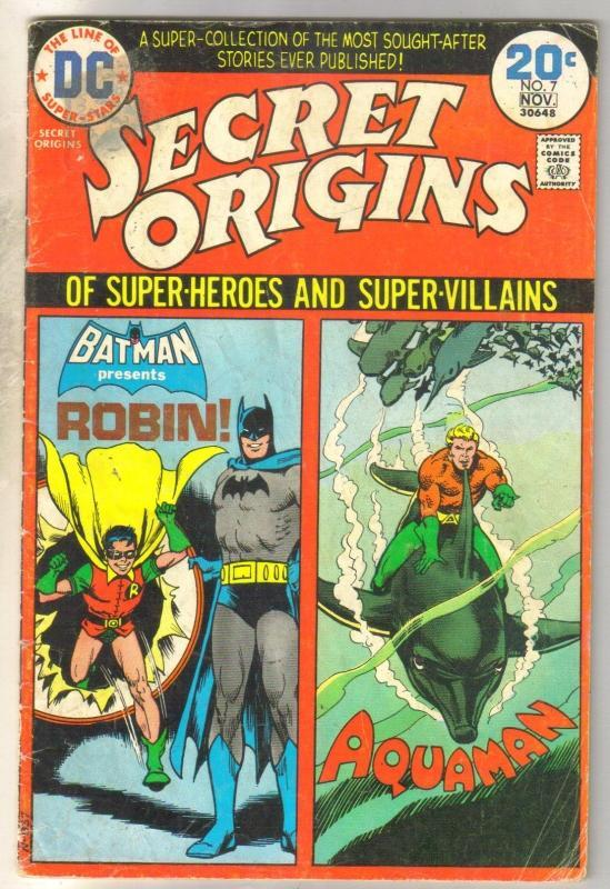 Secret Origins #7 comic book good/very good 3.0