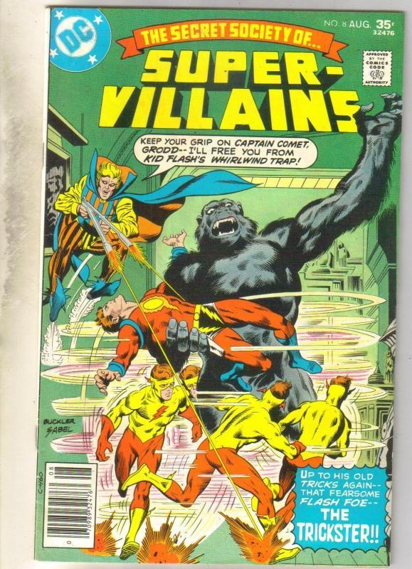 Secret Society of Super Villains #8 comic book fine/very fine 7.0