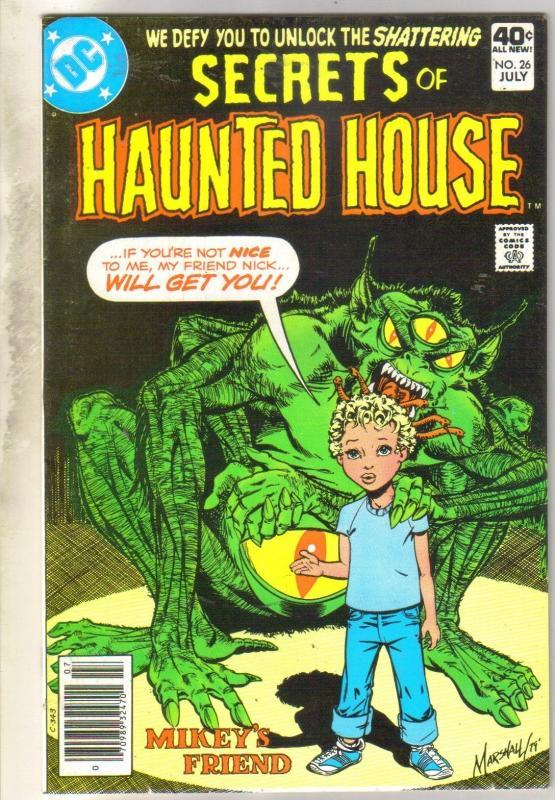 Secrets of Haunted House #26 comic book very fine/near mint 9.0