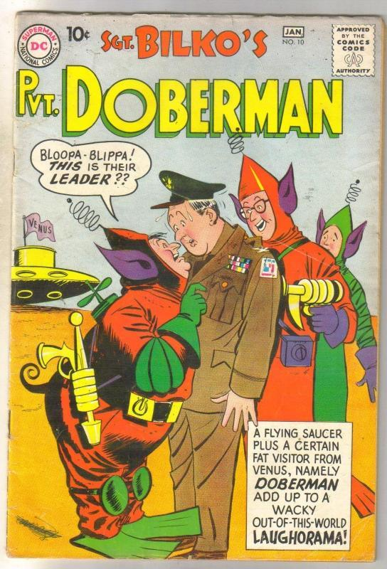 Sgt. Bilko's Pvt. Doberman #10 comic book very good 4.0