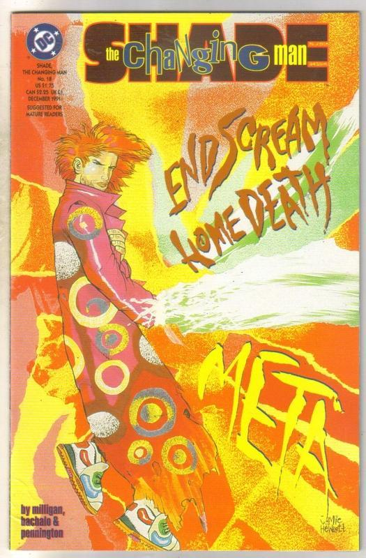 Shade the Changing Man #18 comic book  near mint 9.4
