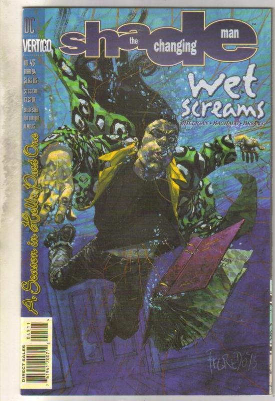 Shade the Changing Man #45 Vertigo comic book  near mint 9.4
