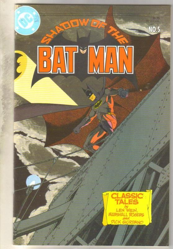 Shadow of the Bat Man #5 comic book mint 9.8