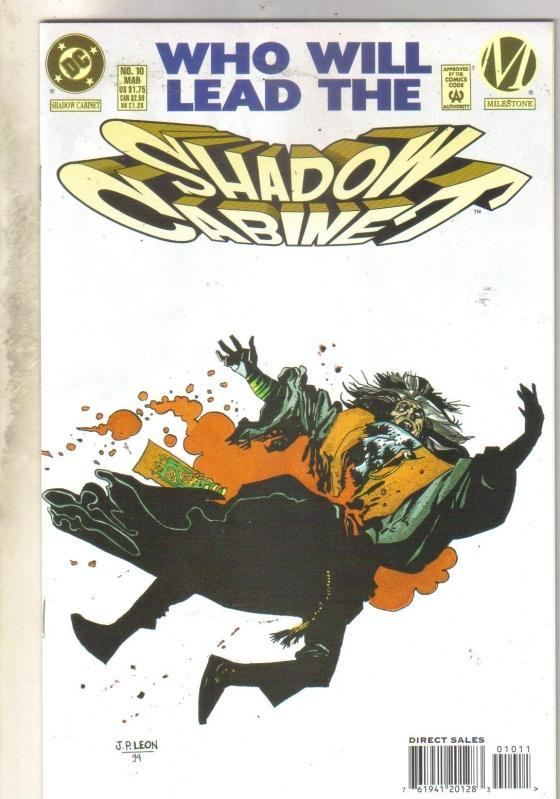 Shadow Cabinet #10 comic book near mint 9.4