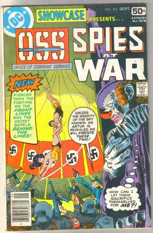 Showcase Presents #104 OSS Spies at War comic book fine 6.0
