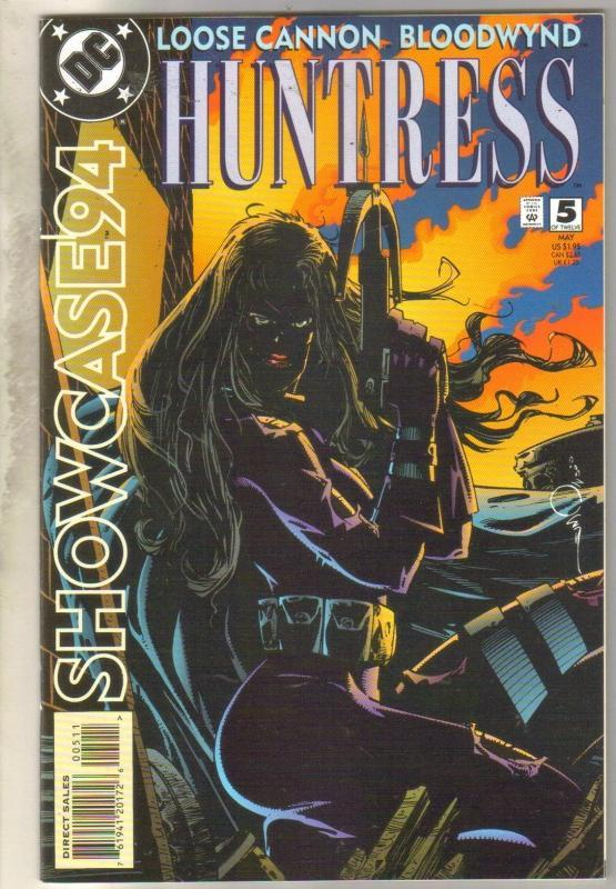 Showcase #5 loose Cannon Bloodwynd Huntress  comic book near mint 9.4