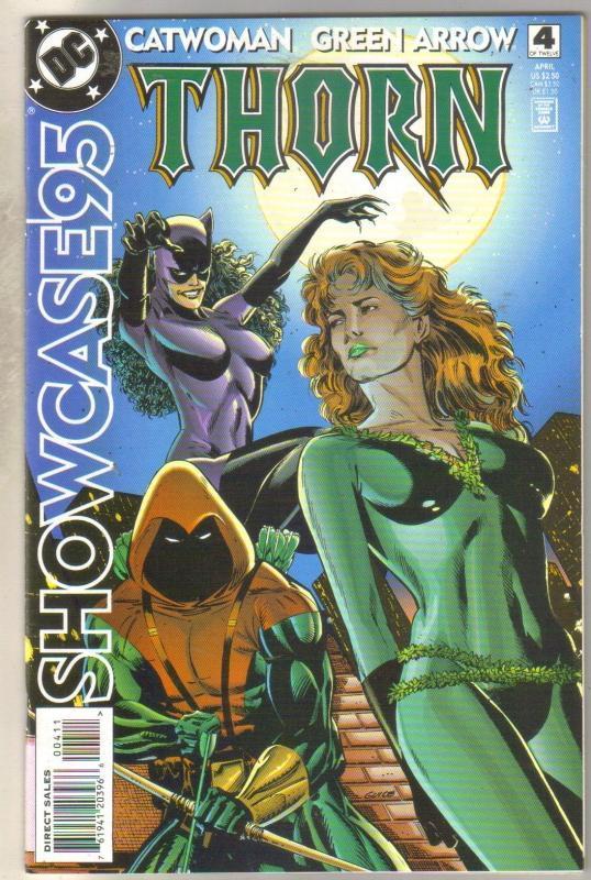 Showcase95 #4 Catwoman Green Arrow Thorn comic book near mint 9.4
