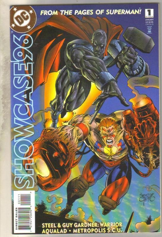 Showcase96 #1 steel Guy Gardner: Warrior Aqualad Metropolis S.C.U.  comic book near mint 9.4
