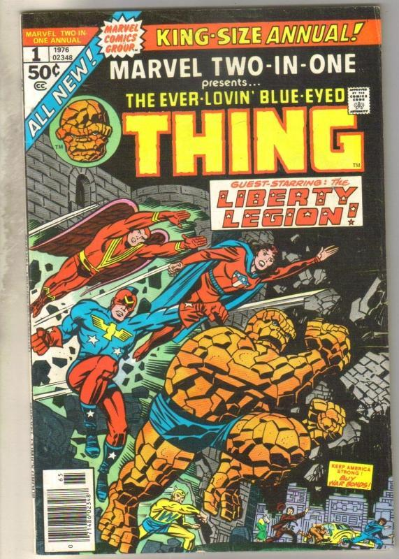 Marvel Two-In-One Annual #1 comic book very good/fine 5.0